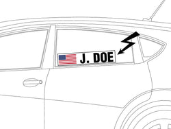 Driver Name Window Cling