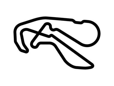 Highlands Motorsports Park GT Circuit Decal