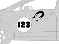 Magnetic Number Roundels