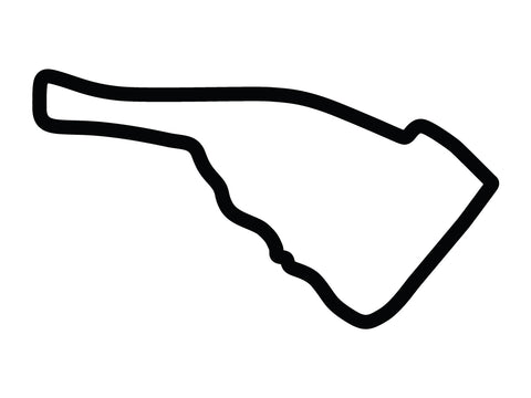 Road Atlanta MotoGP Course Decal