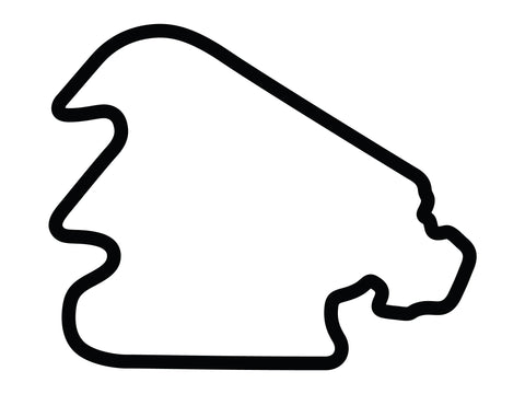 Pocono Int'l Raceway North South Option 3 Course Decal