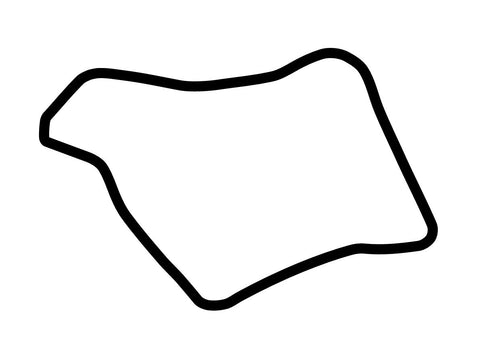 Oulton Park Fosters Circuit Decal