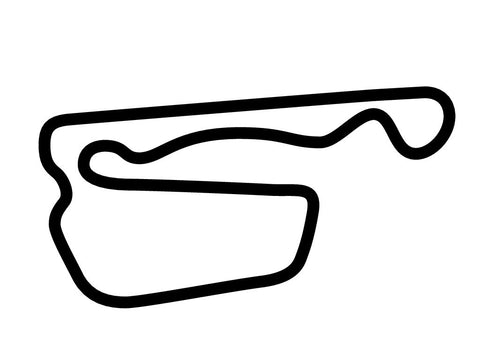 Adams Motorsports Park Time Attack Course Decal