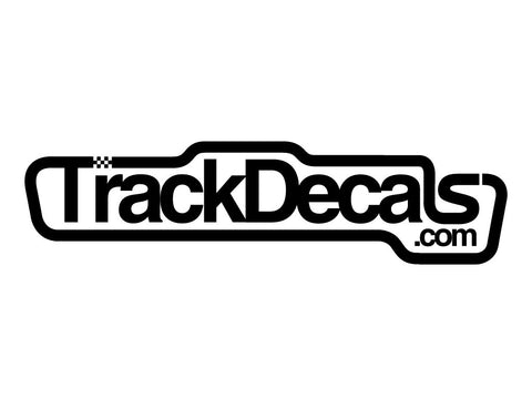 TrackDecals.com Logo #1 Decal