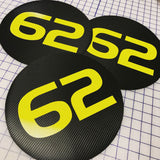 Vinyl Number Decal Roundels