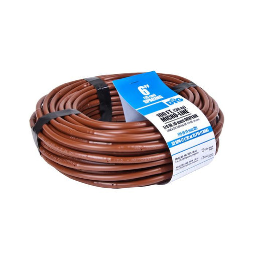 DIG - 1/4'' Microline Dripline w/ 6'' Spacing x 100' (Brown) .52 GPH - ML-106B
