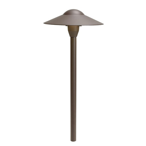"Kichler - 12V 16.25W 8'' Dome 21"" Path Light - 6 Pack (Textured Architectural Bronze) - 15310AZT6"