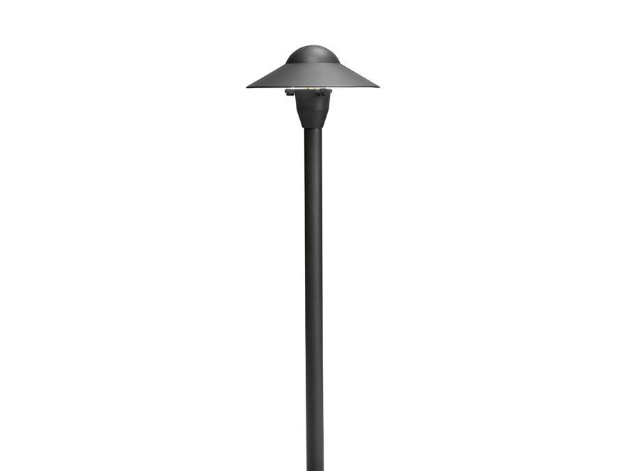 "Kichler - 12V 16W 6'' Dome 21"" Xenon Path Light (Textured Black) - 15470BKT"