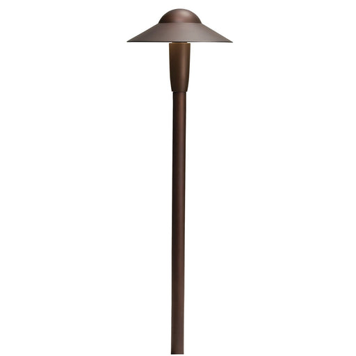 "Kichler - 12V 4.3W 6'' Dome 22"" LED Path Light 2700K (Textured Architectural Bronze) - 15870AZT27R"