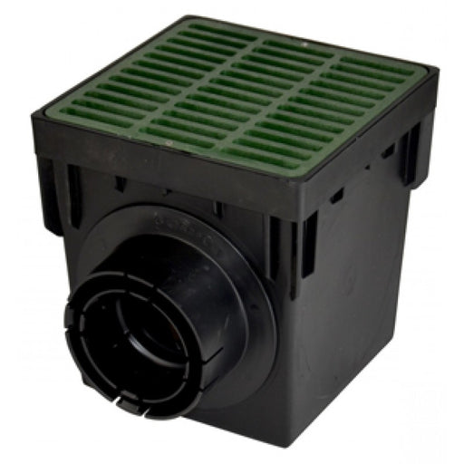 NDS - 1200GRKIT - 12'' Square 2-Hole Basin Kit (Green Grate)