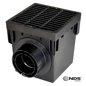 NDS - 1200BLKIT - 12'' Square 2-Hole Basin Kit (Black Grate)