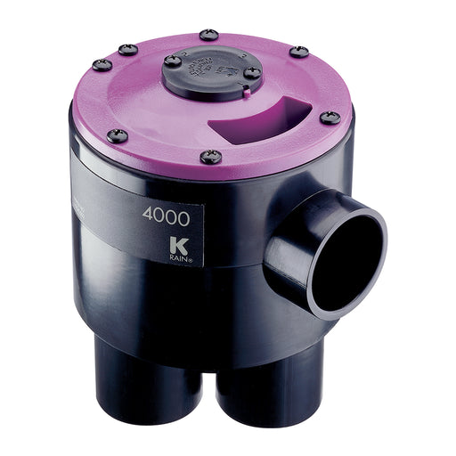 K-Rain - 4604-RCW- 4000 Valve: 6 Outlet 4 Zone, for Reclaimed Water Use