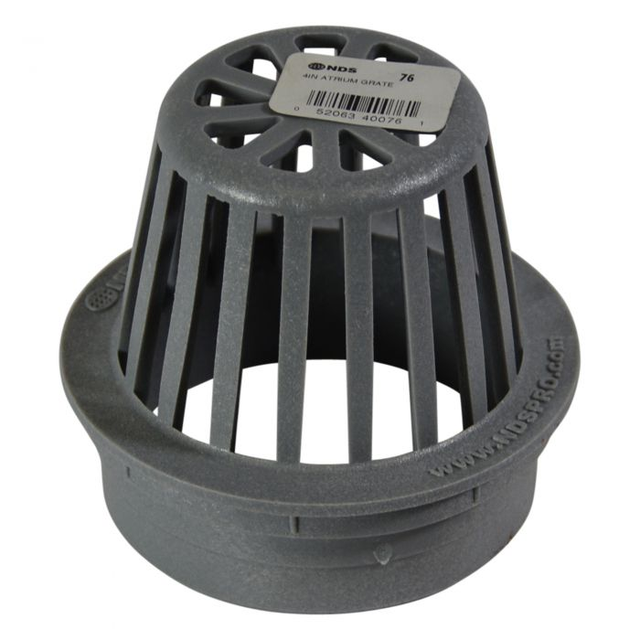 "NDS - 81 - 6"" Round Atrium Grate, Gray"