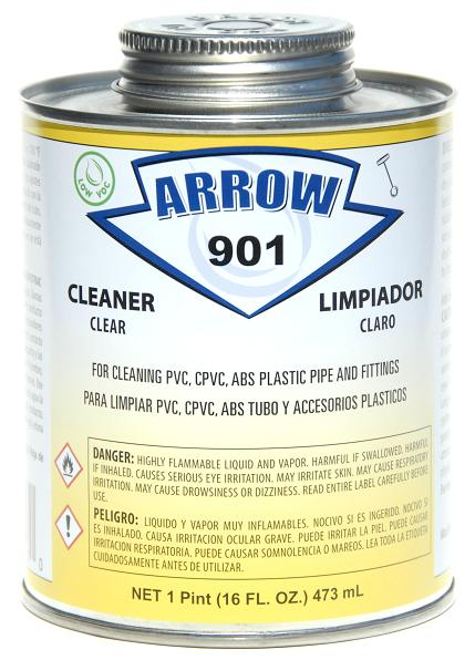 Arrow - 901-P - PVC Cleaner, Clear (Pint)