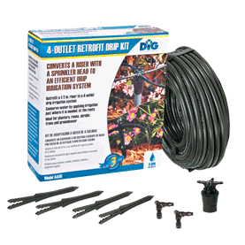 DIG - Four-Outlet Drip Manifold Kit - A450