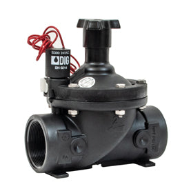 "DIG - 1 1/2"" in-line valve with 24 VAC solenoid and flow control - 33-016"