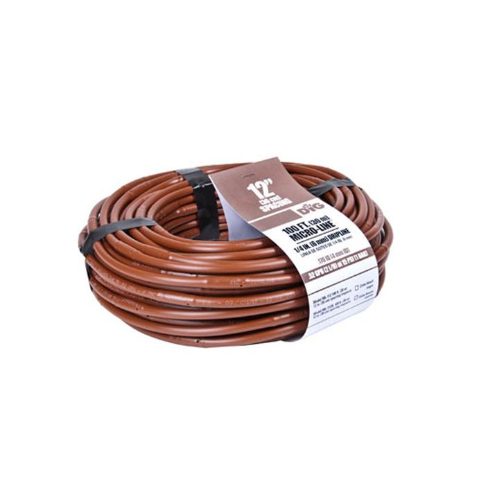 DIG - 1/4'' Microline Dripline w/ 12'' Spacing x 100' (Brown) .52 GPH - ML-112B