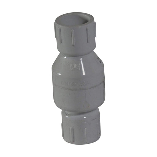 "NDS - 1-1/4"" PVC Swing Check Valve SS 1520-12"