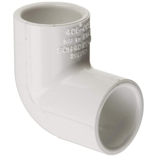 Lesso - 1/2 Sch40 PVC 90-Degree Elbow Socket - 406-005