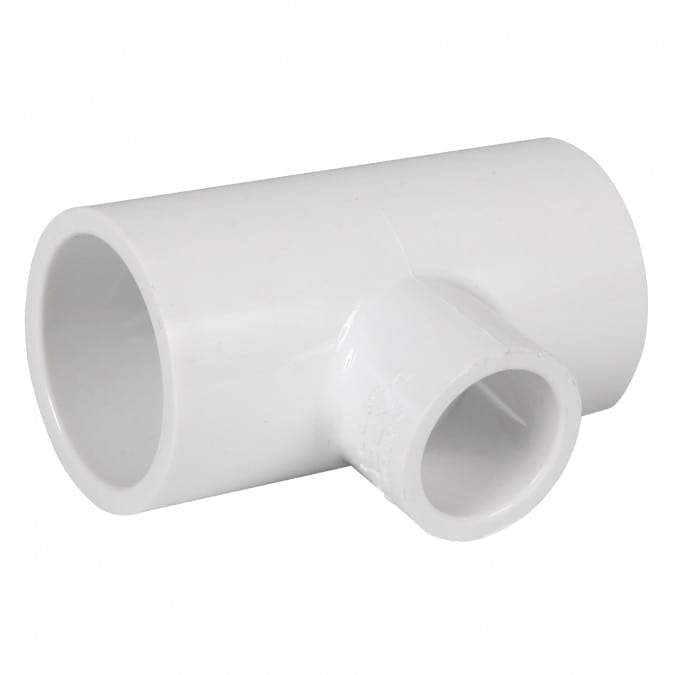 Lesso - 1 1/2 x 1 Sch40 PVC Reducing Tee Socket - 401-211