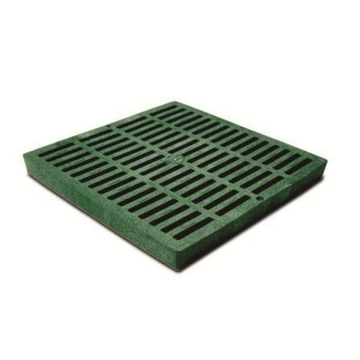 "NDS - 1212 - 12"" Square Catch Basin Grate, Green"