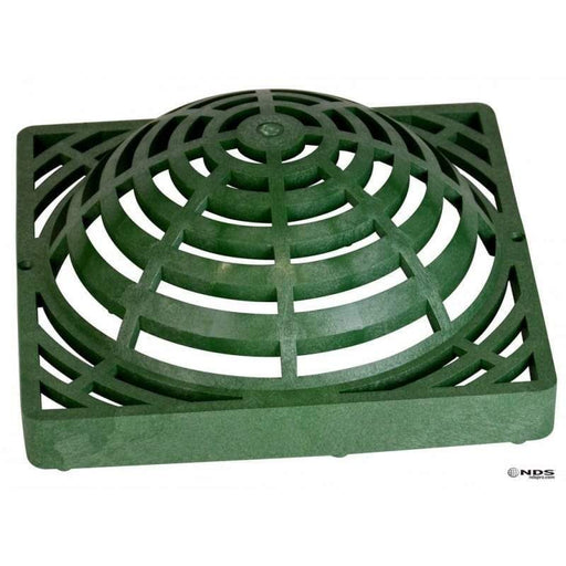 "NDS - 1280 -12"" Square Catch Basin Atrium Grate, Green"