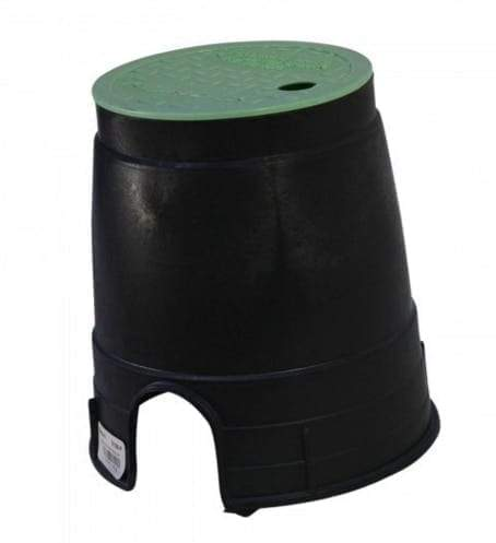 "NDS - D109-G - STD 6"" Rnd Box and Lid, Green Lid/Black Body"