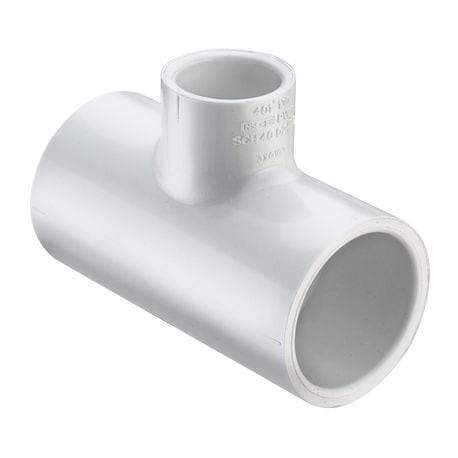 Lesso - 1 x 3/4 Sch40 PVC Reducing Tee Socket - 401-131