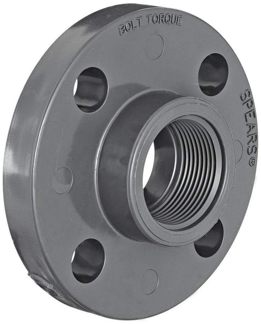 Spears - 2 Sch80 PVC Solid Flange Threaded - 852-020