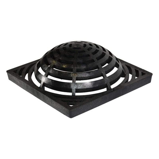 "NDS - 1290 - 12"" Square Catch Basin Atrium Grate, Black"