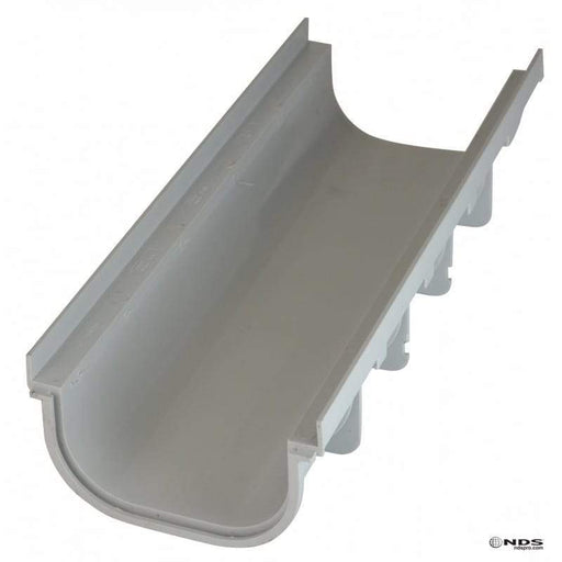 "NDS - 820 - 5"" Pro Series Shallow Profile Channel Drain, Light Gray"