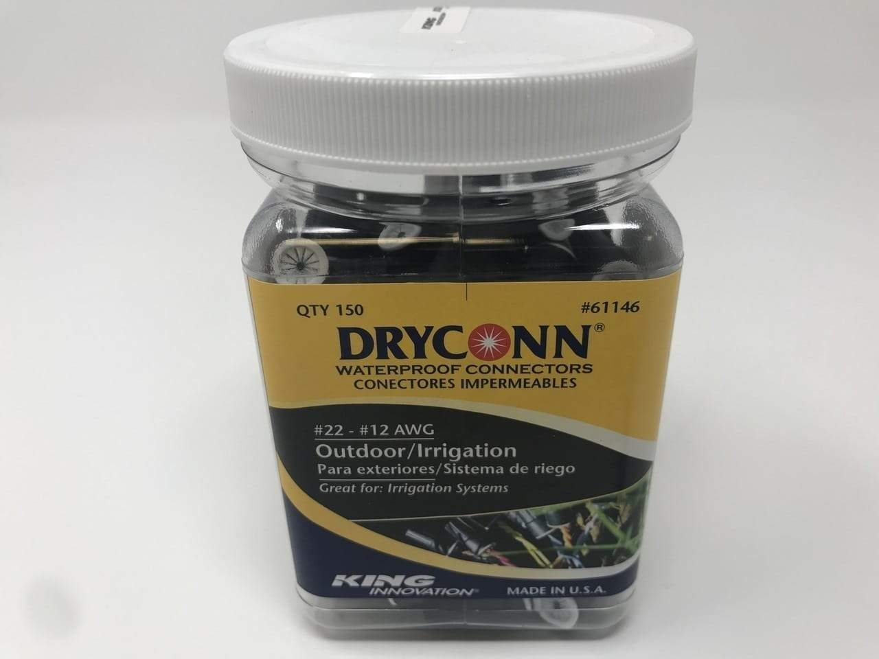 Dryconn - Black/White, 150pc. Canister - 61146
