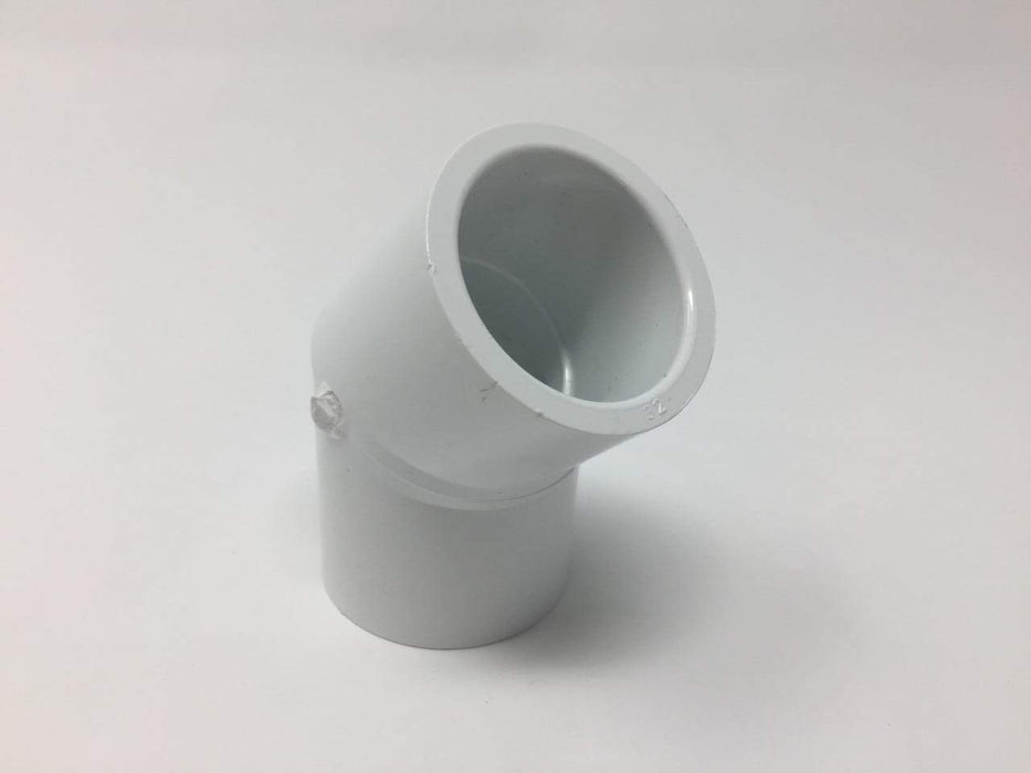 Lesso - 1 Sch40 PVC 45-Degree Elbow Socket - 417-010
