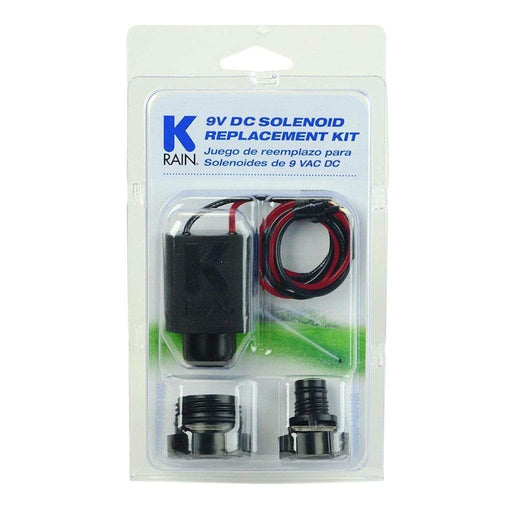 K-Rain - Replacement 9V Solenoid Kit, w/ 1 Rain Bird and 1 Hunter Adapter - P3004758