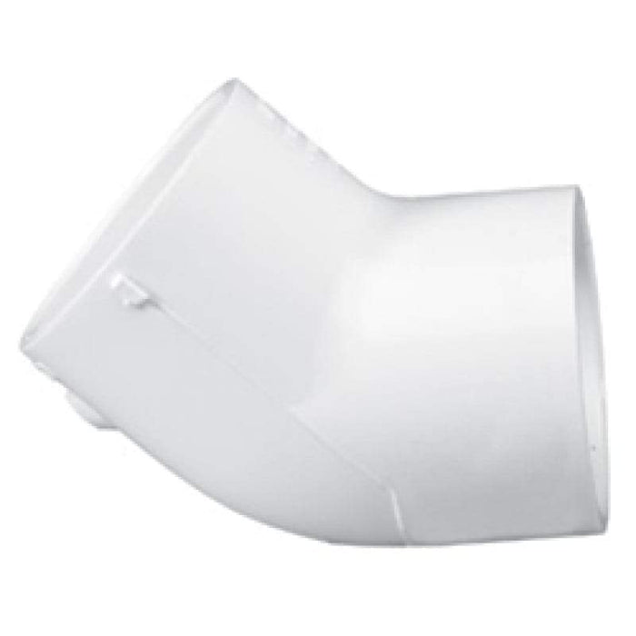 Lesso - 3 Sch40 PVC 45-Degree Elbow Socket - 417-030
