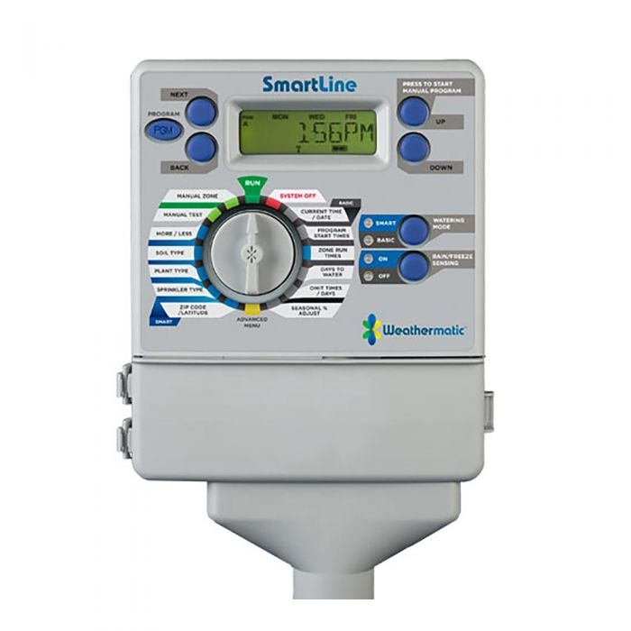 Weathermatic - SmartLine 4-Station Indoor Controller (Expadable to 8 Zones) - SL800