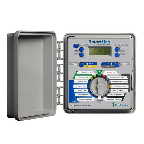 Weathermatic - SmartLine 4-Station Indoor/Outdoor Controller (Expadable to 16 Zones) - SL1600