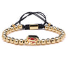 Luxury Superman Gold Beads Bracelet