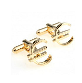Euro Money Sign Cufflink