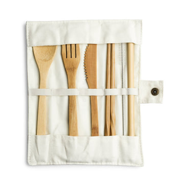 Bamboo Travel Utensil Pouch
