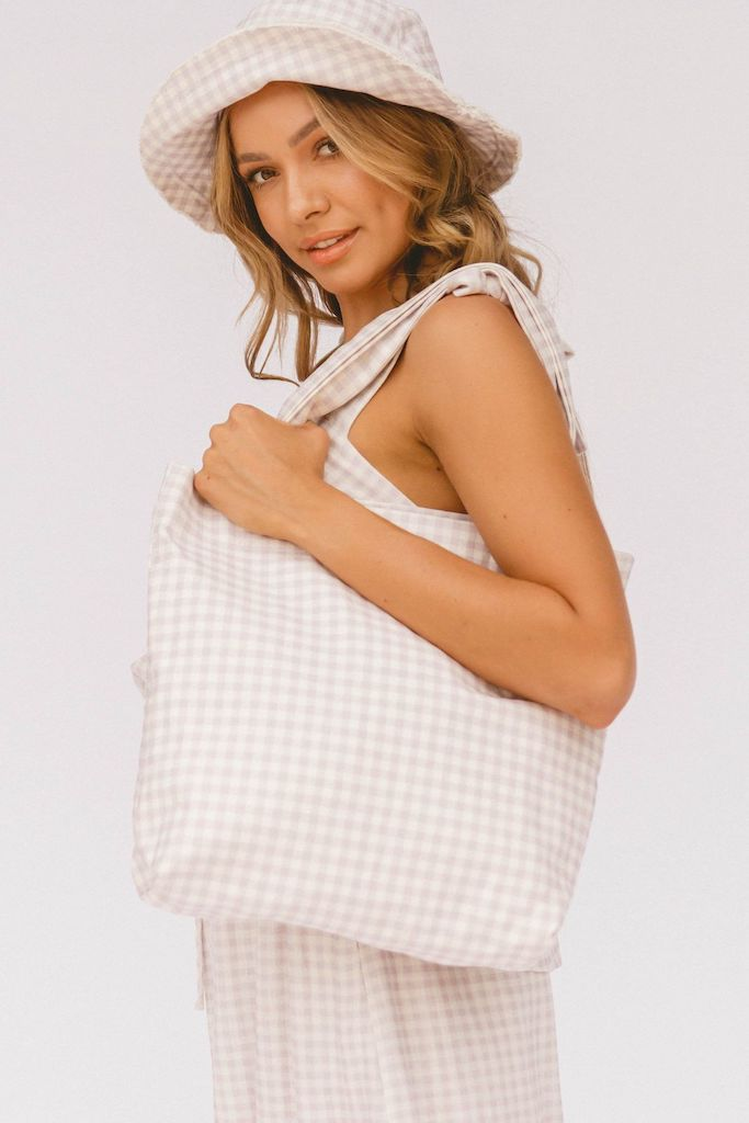 Cherie Bag // Lilac Gingham