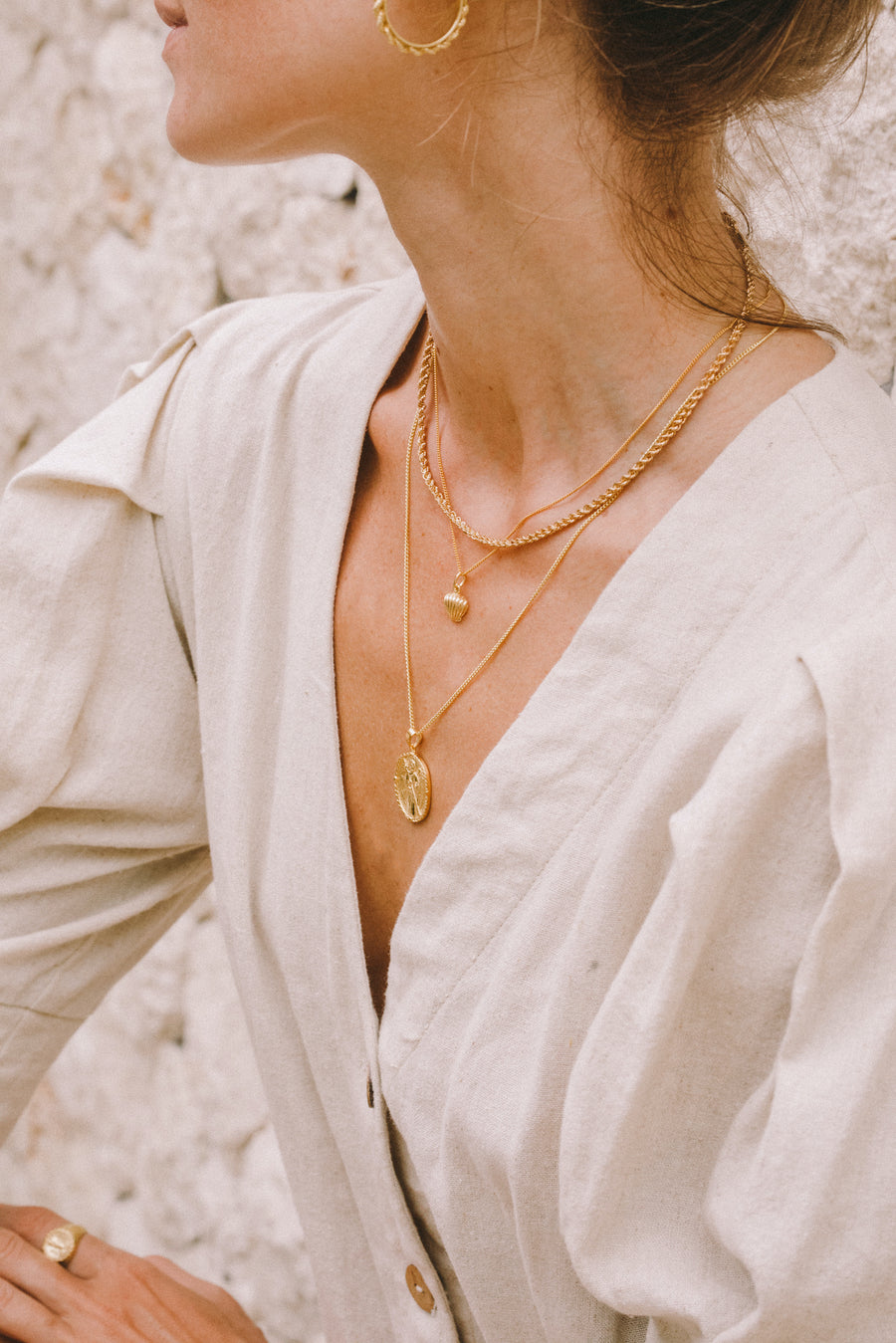 Rhode Island Twisted Rope Chain // Gold