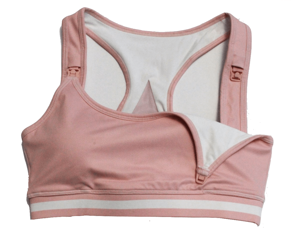 glomamaco 'blush' breastfeeding friendly sports bra