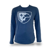Long Sleeve Shield T-Shirt (Indigo)