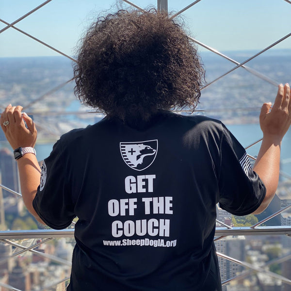 "Sheep Dogs ""GET OFF THE COUCH"" Outdoor Adventure T-shirt"