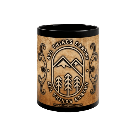 The All Things Earthy Black mug 11oz - All Things Earthy