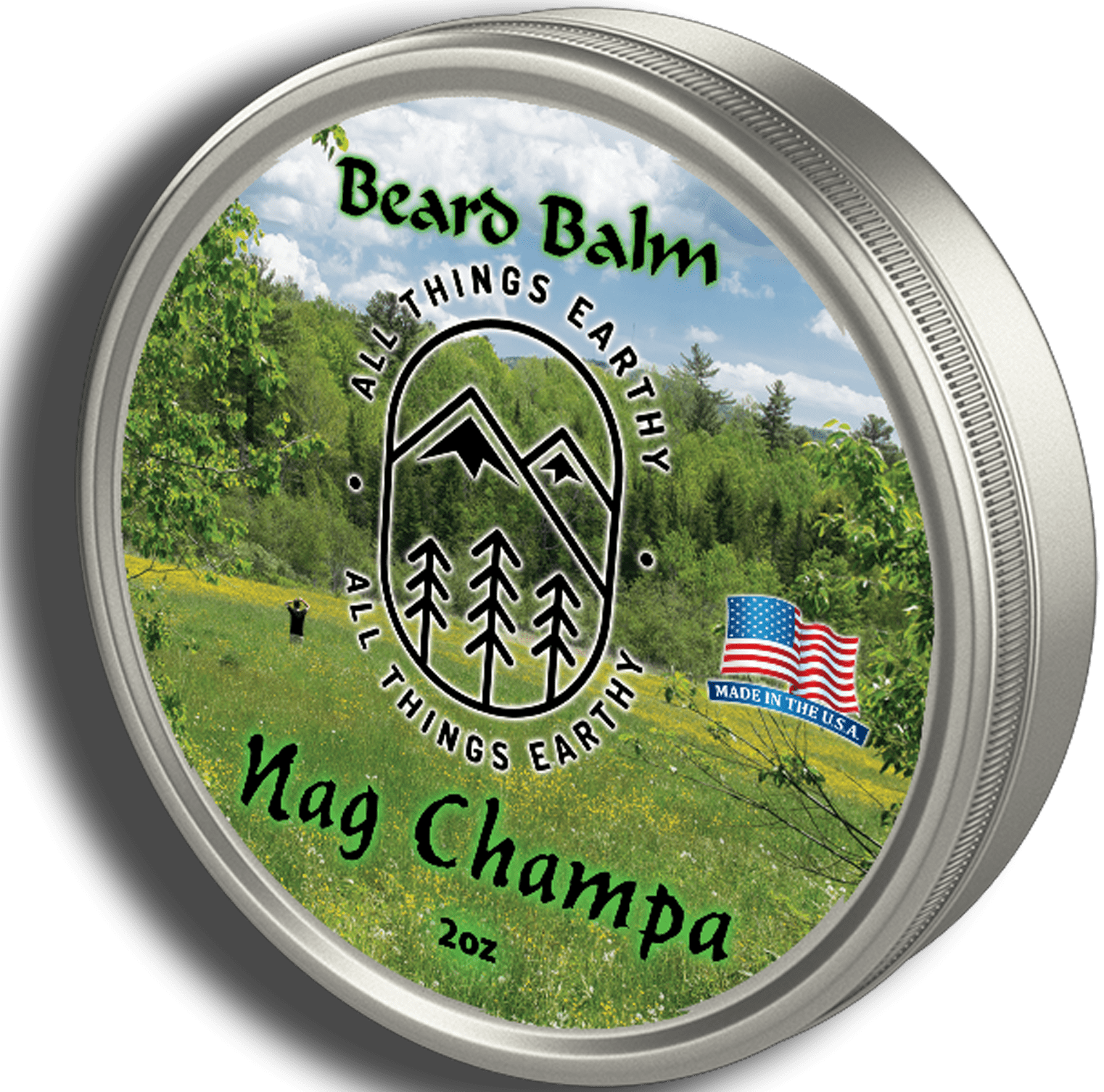 Nag Champa Beard Balm 2oz - All Things Earthy