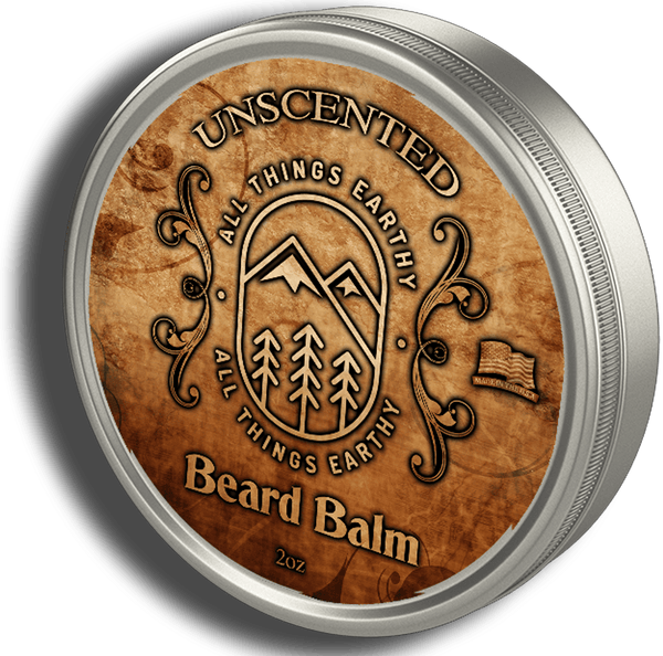 Unscented Beard Balm 2oz - All Things Earthy