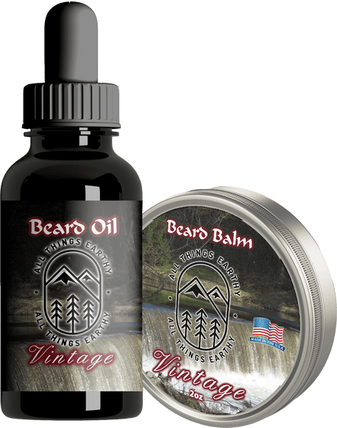 Vintage Premium Beard Oil 1oz - All Things Earthy
