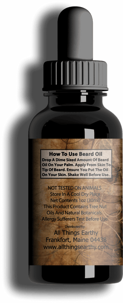 Unscented Premium Beard Oil 1oz - All Things Earthy